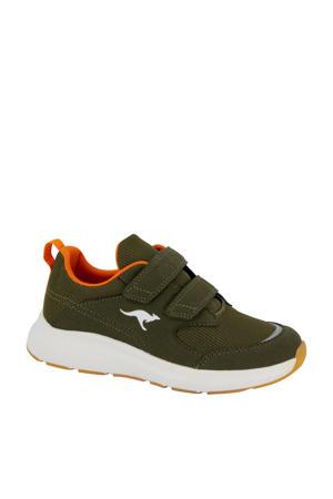 sneakers kaki/oranje