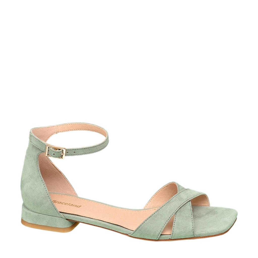 Graceland   sandalen mintgroen, Mintgroen