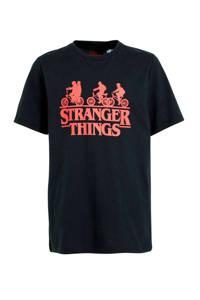 C&A Here & There T-shirt met tekst zwart/rood, Zwart/rood