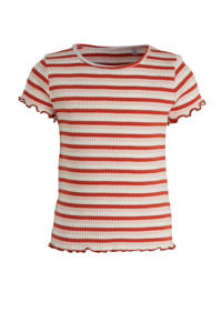 C&A Palomino gestreept T-shirt rood/lichtroze/wit, Rood/lichtroze/wit