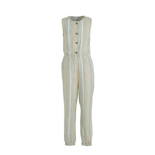 C&A Palomino gestreepte jumpsuit ecru/grijs/be