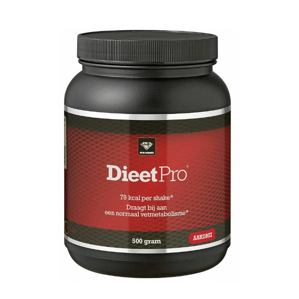 Dieet Pro Afslankshake aardbei -500 gram