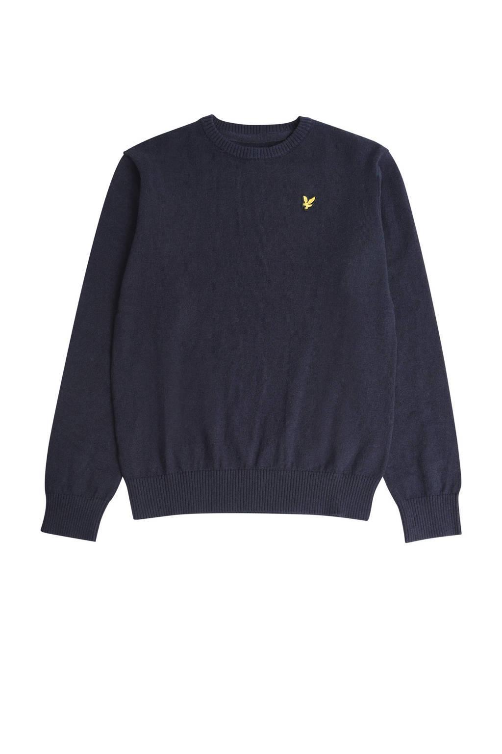 Lyle & Scott trui met logo donkerblauw, Donkerblauw