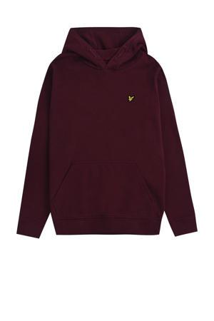 hoodie donkerrood