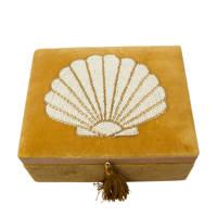 À la opbergbox Shell (20x15 cm), Mosterd