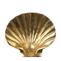 À la decoratie schaaltje Shell, Goud
