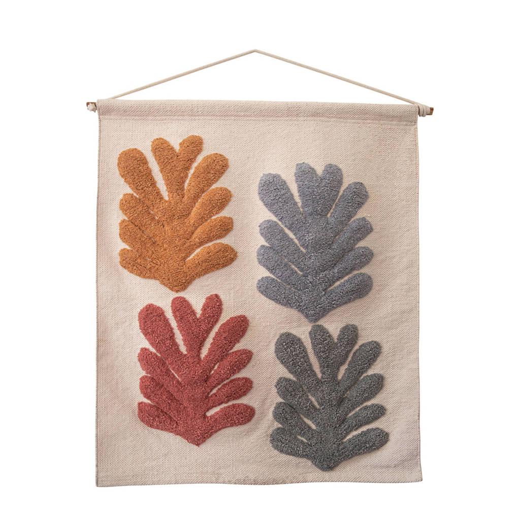À la wandkleed Leaves (70x52 cm), Wit