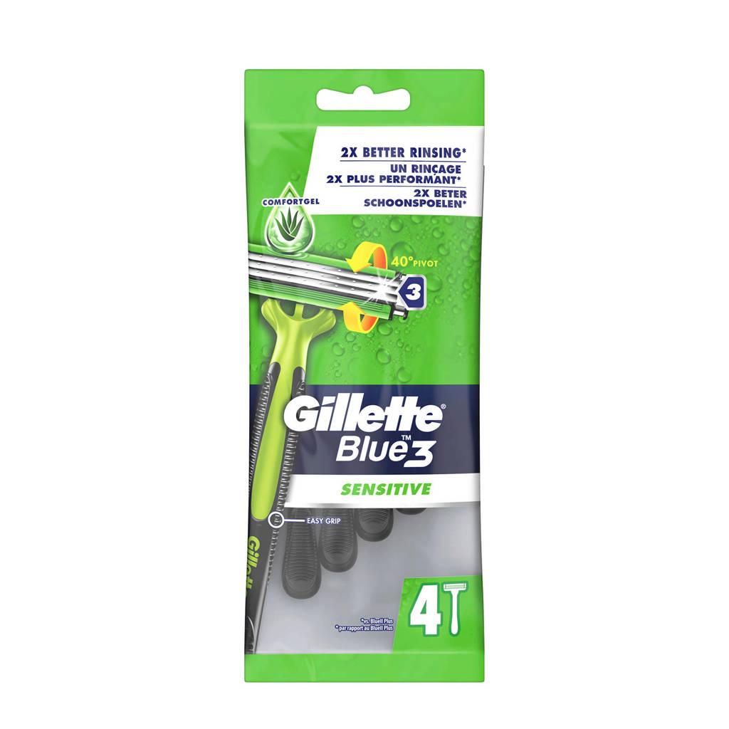 Gillette Blue3 Sensitive 4 stuks