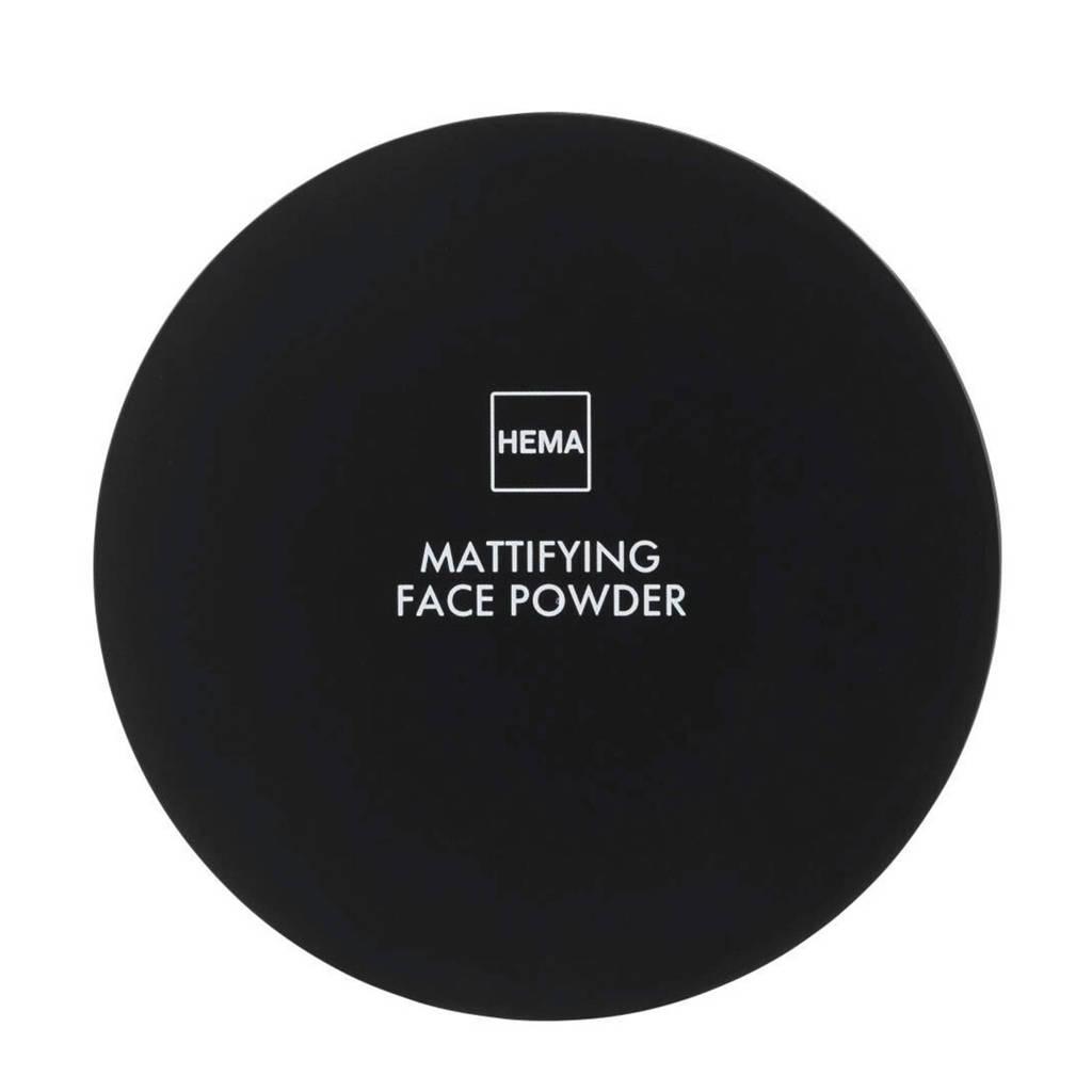 HEMA Mattifying face powder - Rose medium