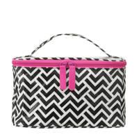 HEMA beautycase, Zwart/wit/roze
