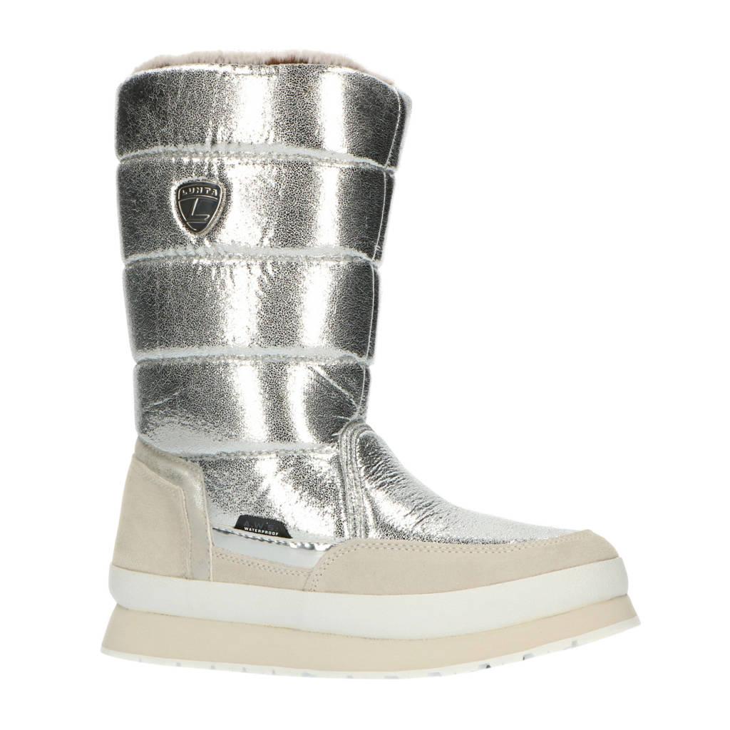 Luhta Valkea  snowboots glanzend, Zilver