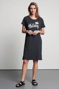 Catwalk Junkie T-shirtjurk Summer Holiday van biologisch katoen donkergrijs, Donkergrijs