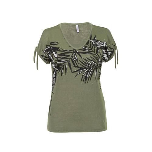 Miss Etam Regulier T-shirt met printopdruk groen