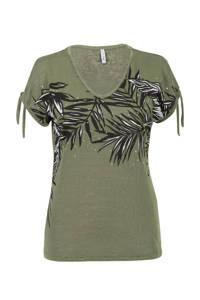 Miss Etam Regulier T-shirt met printopdruk groen, Groen