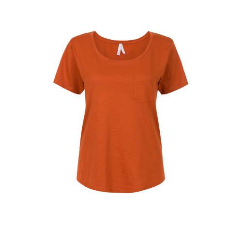 Miss Etam Regulier T-shirt oranjebruin