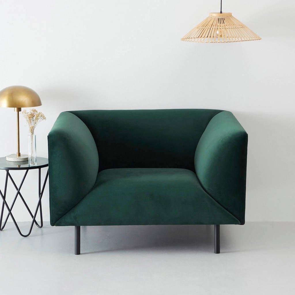 whkmp's own fauteuil Meghan, Groen (velours)