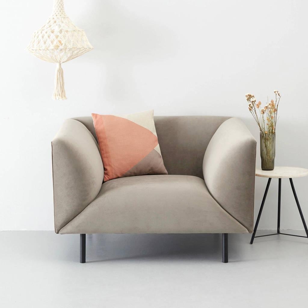 whkmp's own fauteuil Meghan, Grijs (velours)