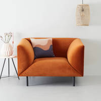 whkmp's own fauteuil Meghan, Terracotta (velours)