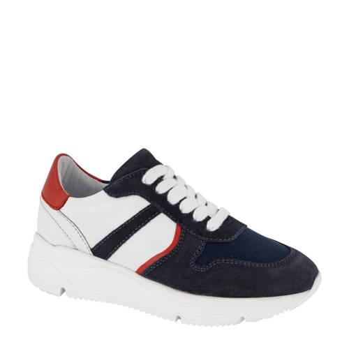 Vty su??de sneakers donkerblauw