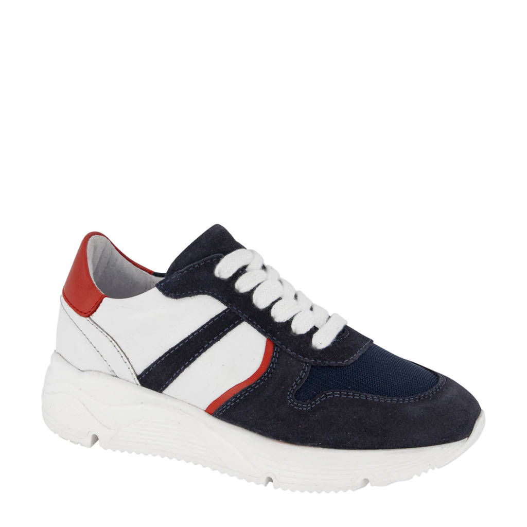 Vty   suède sneakers donkerblauw, Donkerblauw/multi