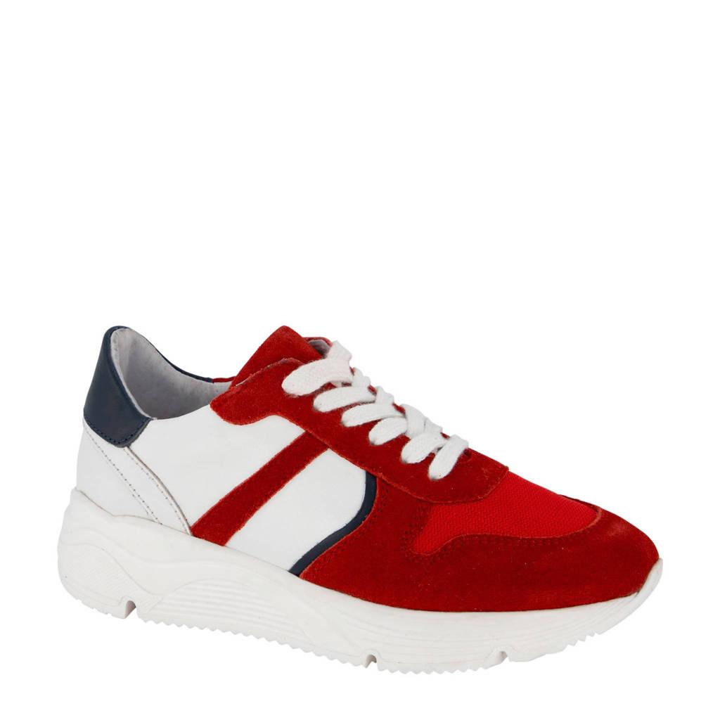 Vty   suède sneakers rood, Rood