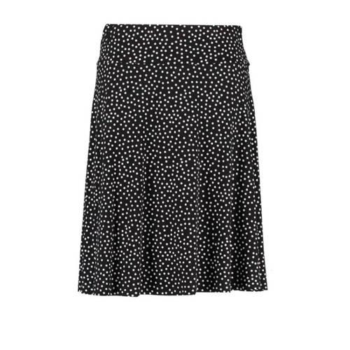 MS Mode rok met stippen zwart/wit