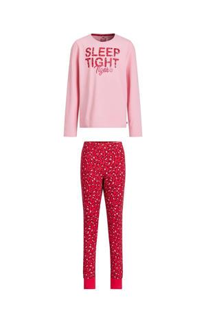regular fit pyjama roze/rood