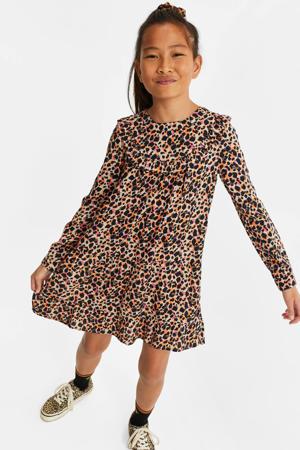 jurk met panterprint multi