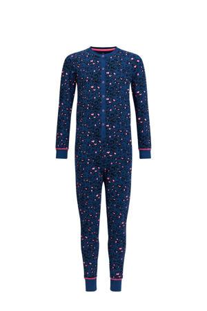 regular fit onesie pyjama blauw/zwart/roze