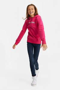 WE Fashion hoodie met tekst fuchsia, Fuchsia