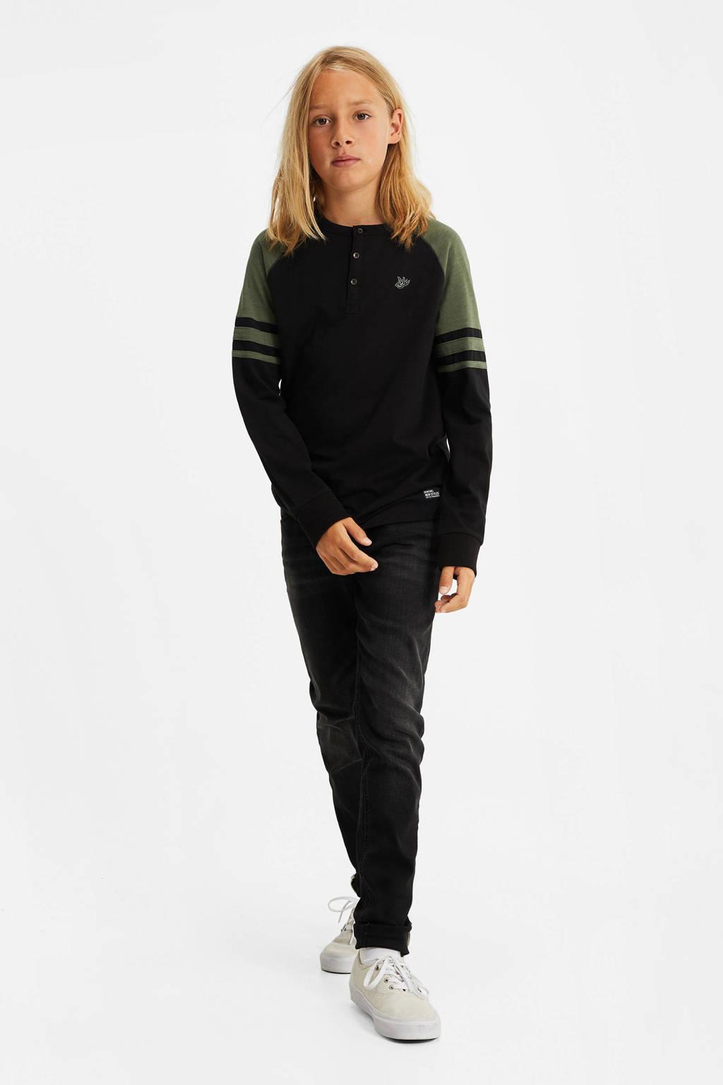 WE Fashion longsleeve army groen/zwart, Army groen/zwart