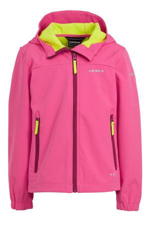 softshell jack Kappeln Jr. roze/geel