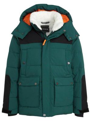 gewatteerde winterjas Kelheim Jr. groen/zwart