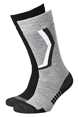 skisokken (set van 2) grijs/antraciet