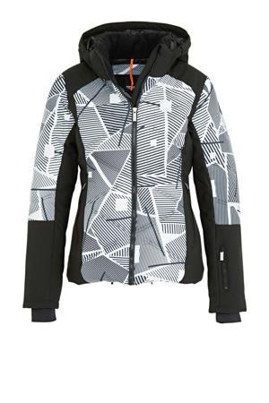ski-jack Ellis zwart/lichtgrijs