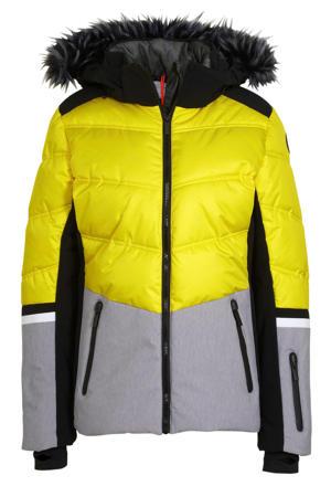 ski-jack Electra geel/grijs/zwart
