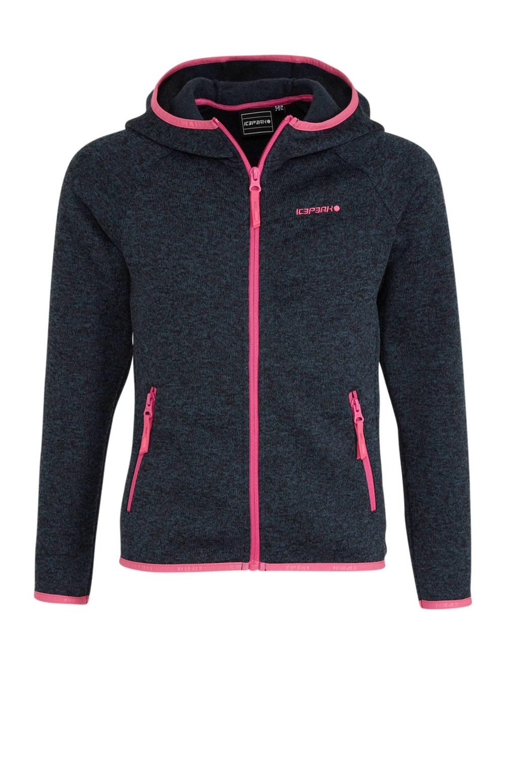Icepeak vest Kuna Jr. donkerblauw/roze, Donkerblauw/roze