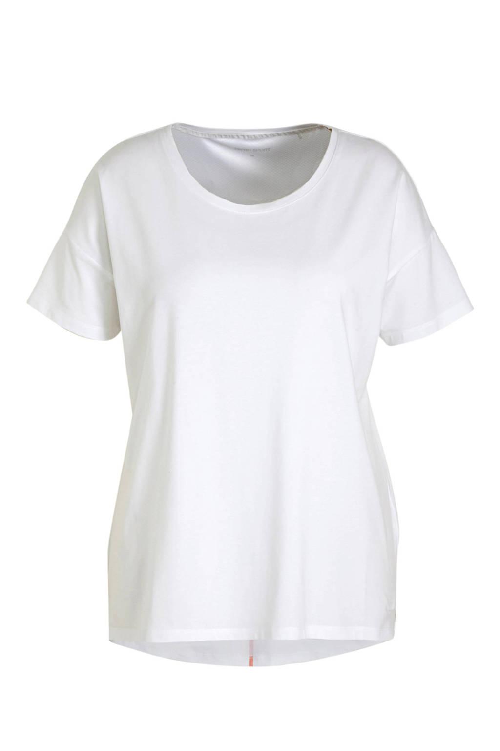 ESPRIT Women Sports sport T-shirt wit, Wit