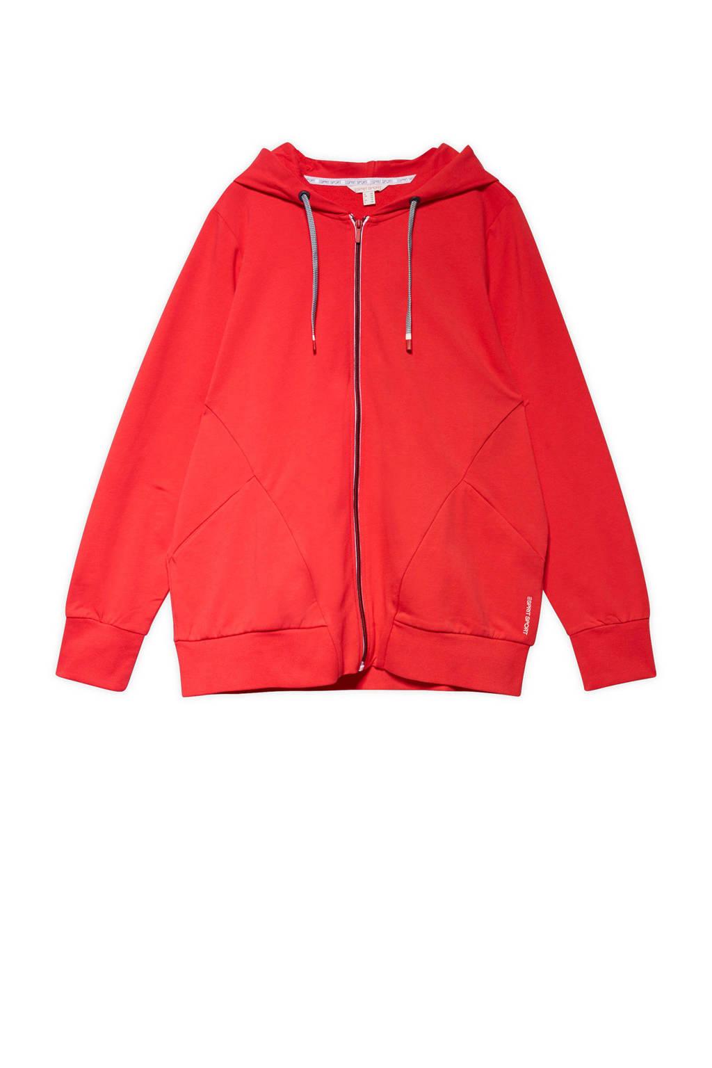 ESPRIT Women Sports Plus Size sportvest rood, Rood