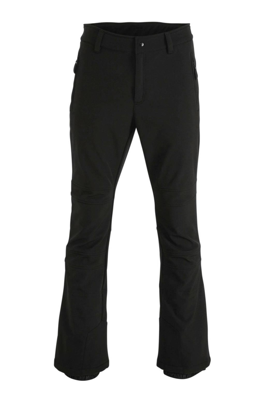 Icepeak softshell skibroek Erding zwart, Zwart