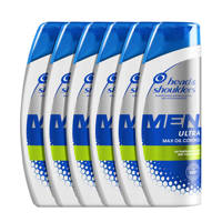 Head & Shoulders Men Ultra Max Oil Control Anti-roos shampoo - 6x 250ml