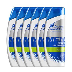 Men Ultra Max Oil Control Anti-roos shampoo - 6x 250ml