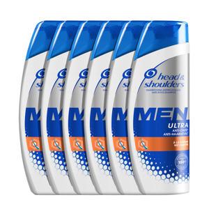 Men Ultra Anti-haaruitval Anti-roos shampoo - 6x 250ml