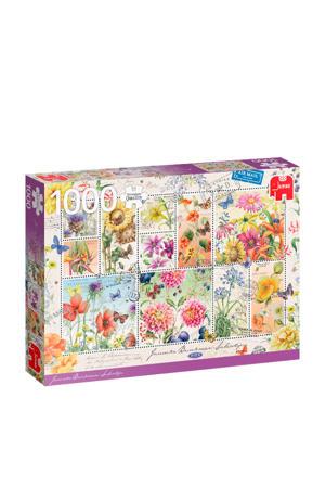 PC Flower Stamps, Summer Flowers  legpuzzel 1000 stukjes