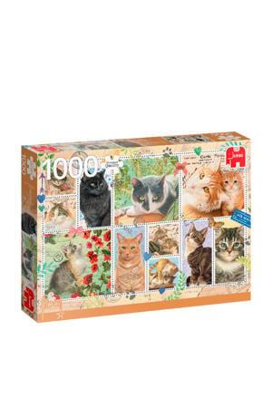PC Cat Stamps  legpuzzel 1000 stukjes