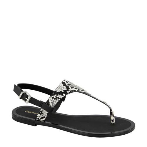 Graceland sandalen slangenprint zwart/wit