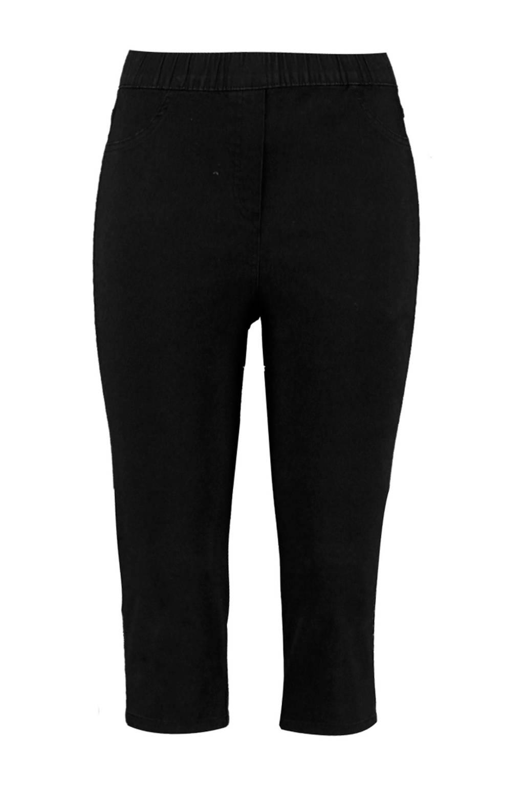 MS Mode high waist slim fit tregging zwart, Zwart