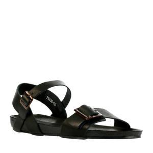 79236  leren sandalen zwart