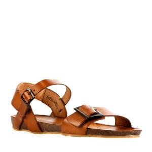79236  leren sandalen cognac