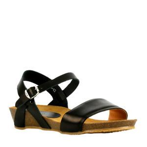 79244  leren sandalen zwart